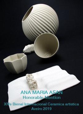 Ana Maria Asan|Prix|Biennale de la Céramique Aveiro 2019