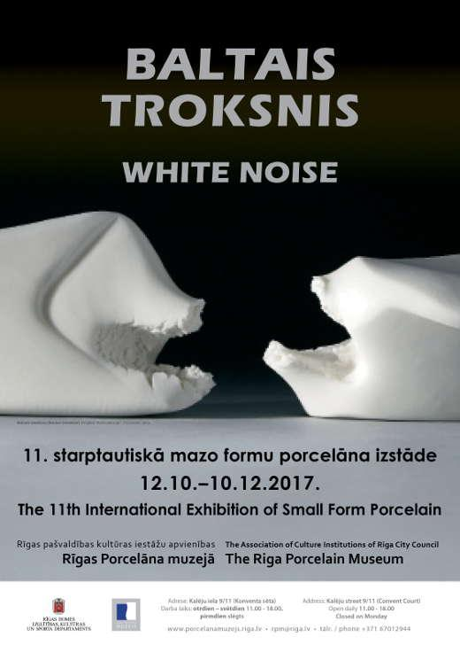 Ana Maria Asan - Riga Porcelain Museum - 11th International Exhibition of Small Form Porcelain, White Noise - 2017